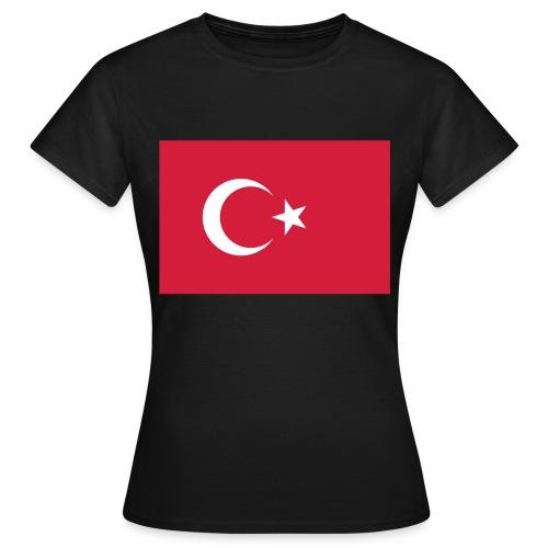 flag of turkey - Vrouwen T-shirt