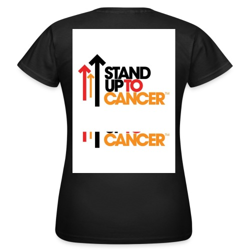 stand up to cancer logo large jpg - Women's T-Shirt