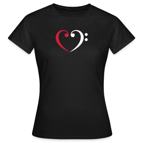 wr lb heart - Frauen T-Shirt