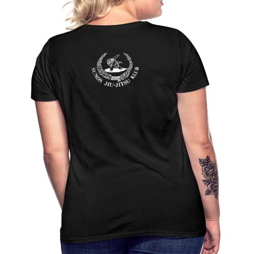 hvid logo på brystet eller ryggen - Dame-T-shirt
