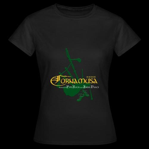 Vorn T Shirt schwarz - Frauen T-Shirt