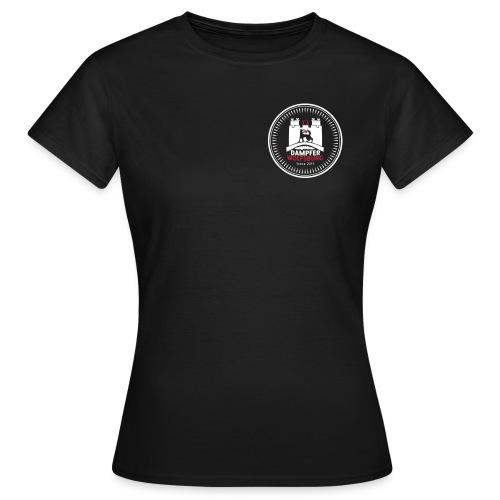 rz_logo_badge_auf_schwarz - Frauen T-Shirt