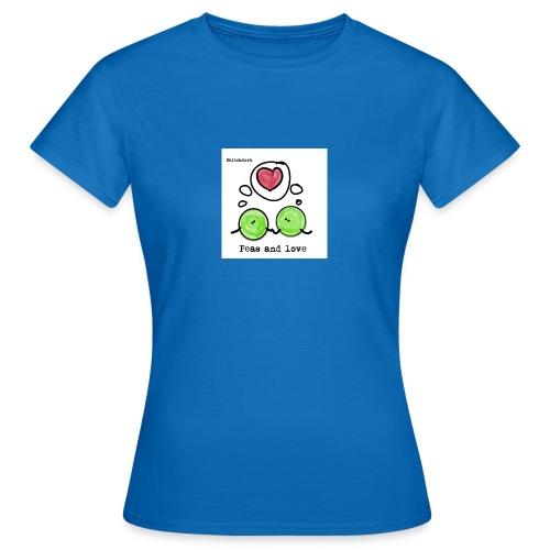 peas and love png - T-skjorte for kvinner