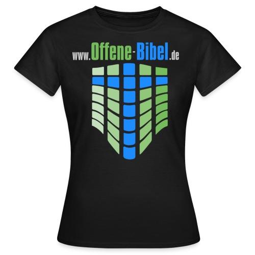 logo mit www fuer schwarzen hintergrund - Frauen T-Shirt