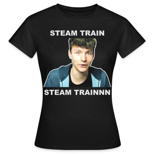 steam train writing - Women's T-Shirt