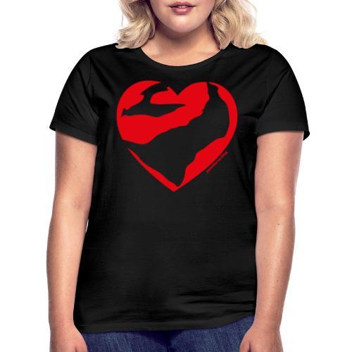 Cuore Paint - Maglietta da donna