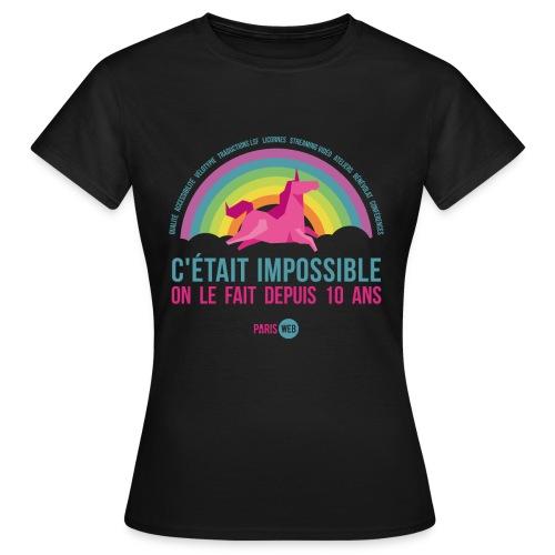c'était impossible - T-shirt Femme