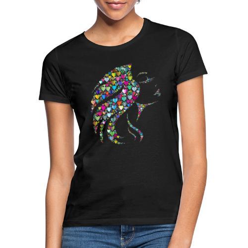 MonkeyShy femme avec cœurs multicolore - T-shirt Femme