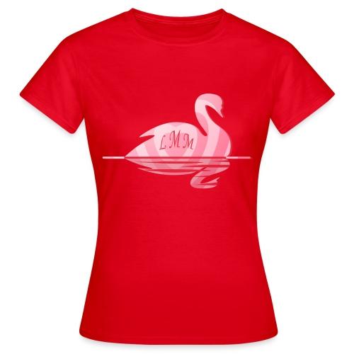 Cygne rose coeur png - T-shirt Femme