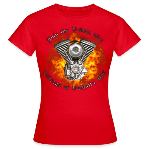 V twin png - Dame-T-shirt