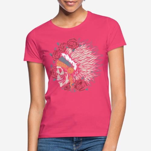 indian skull roses - Frauen T-Shirt