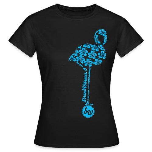 StrandWärmer Flamingo Turkis - Frauen T-Shirt