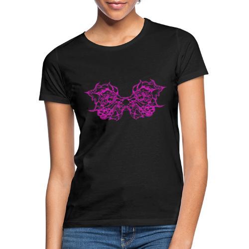 Magentafarbene Spitzenflügel - Frauen T-Shirt