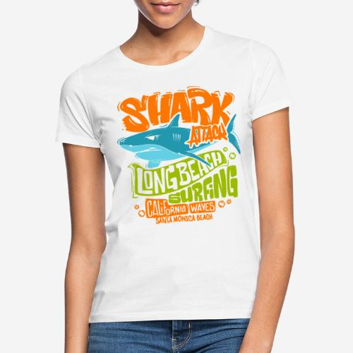 shark surf surfing california - Frauen T-Shirt