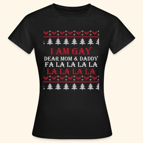 Gay Christmas sweater - Koszulka damska