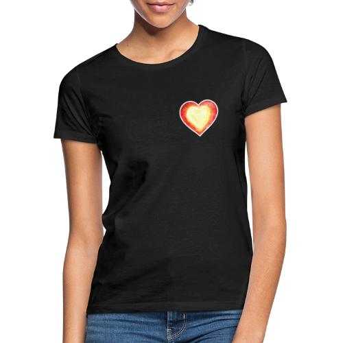 Burning Fire heart - Women's T-Shirt