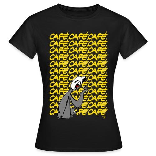 Moka lettres jaunes - T-shirt Femme