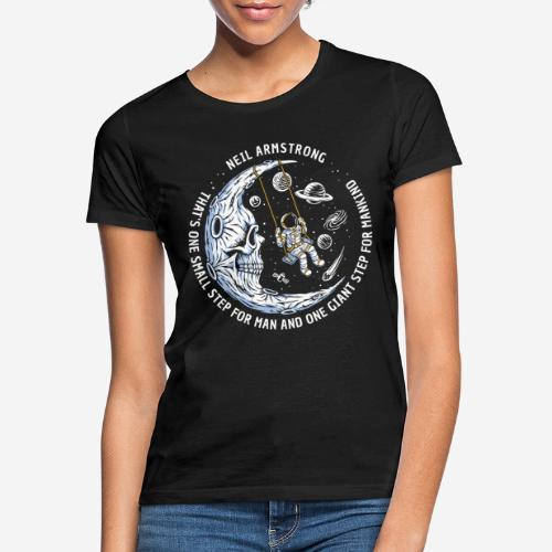 moon astronaut stars space - Frauen T-Shirt