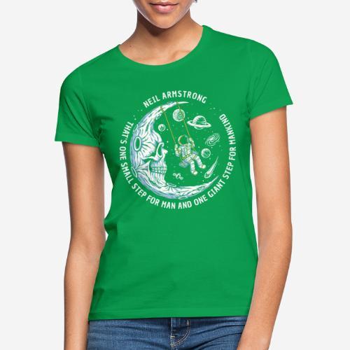 moon astronaut stars space - Frauen T-Shirt