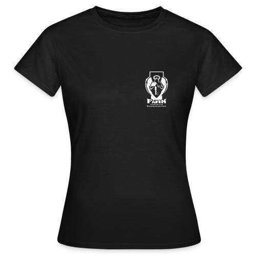 fark_logo_outline_white - Frauen T-Shirt