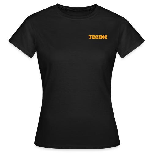 TecInc logo (Orange) - Dame-T-shirt