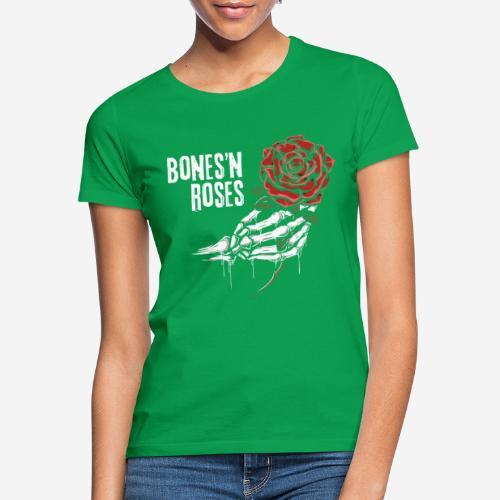 Schädelknochen Rosen - Frauen T-Shirt