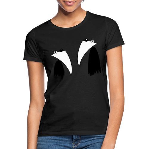 Raving Ravens - black and white 1 - Frauen T-Shirt