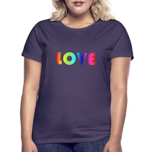 De Liefde van de regenboog - Vrouwen T-shirt