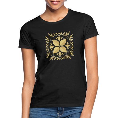 Golden Flower - Camiseta mujer