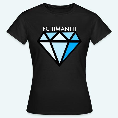 FCTimantti logo valkteksti futura - Naisten t-paita