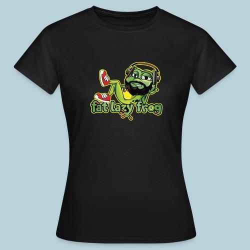 Fat Lazy Frog (Frog Logo) - Women's T-Shirt