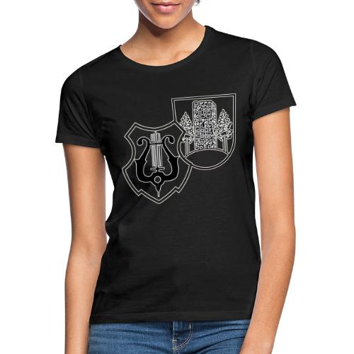 MVW Logo sw mit ws Rand transparent - Frauen T-Shirt