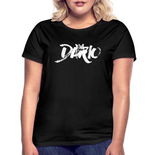 illustration logo blanc - T-shirt Femme