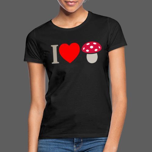 I LOVE FUNGO tema chiaro muscaria - Maglietta da donna