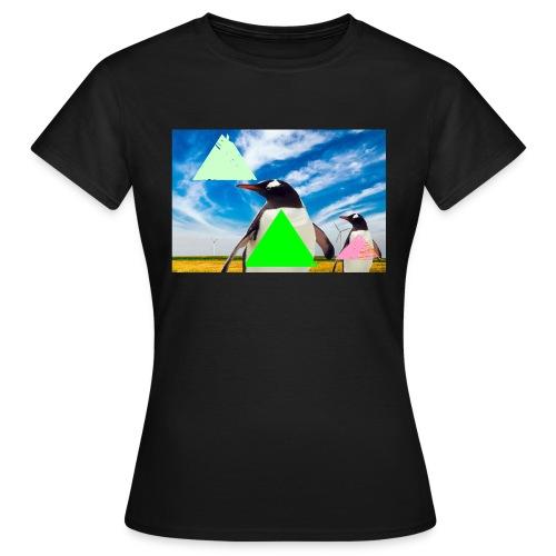 ultra_mega_h--ftig_pingvin_med_yolo_man_swag - T-shirt dam