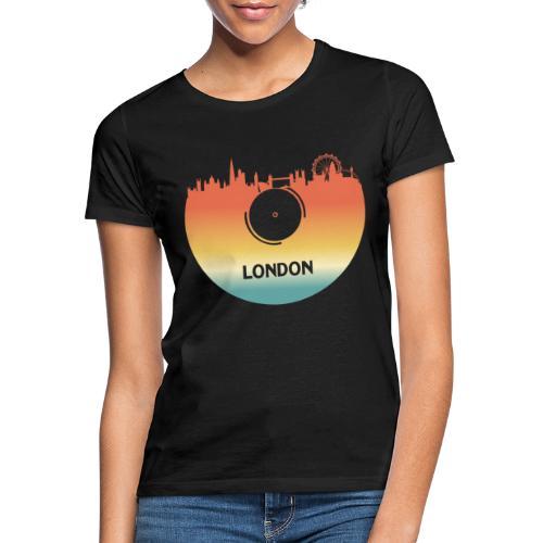 London Skyline Vinyl Schallplatte London Souvenir - Frauen T-Shirt
