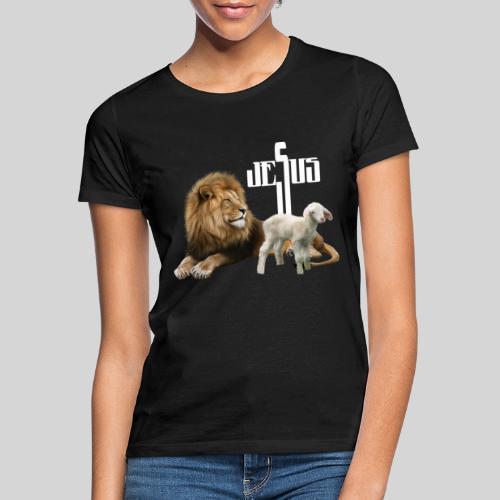 Jesus der Löwe und das Lamm - Frauen T-Shirt