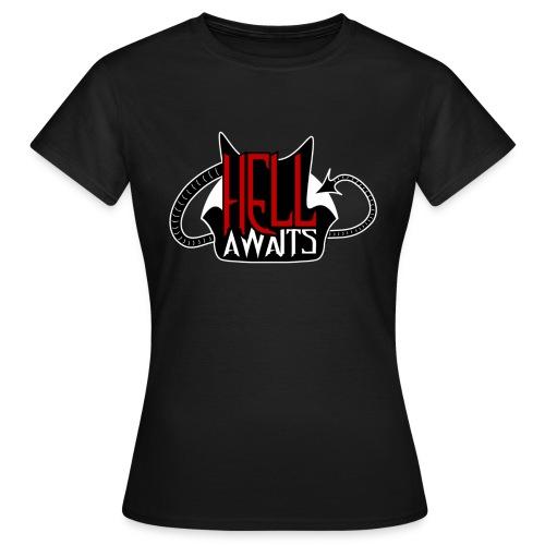 Hell Awaits -clean - Vrouwen T-shirt