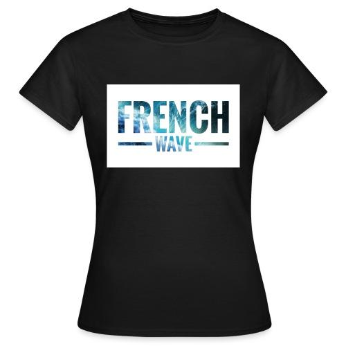 FRENCH WAVE LOGO - T-shirt Femme