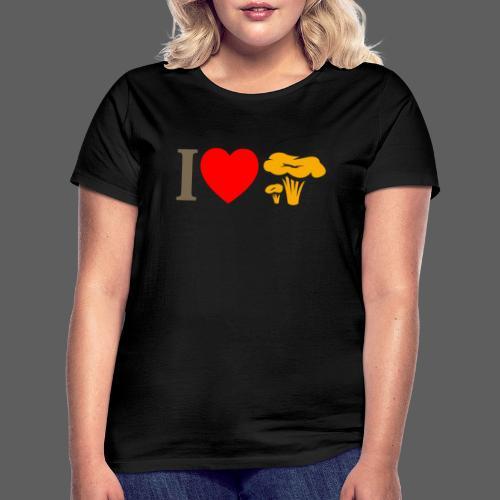 I LOVE FUNGO tema chiaro finferli - Maglietta da donna