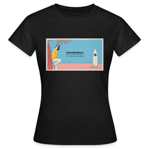 Noise Explorer Beach Test - T-shirt Femme