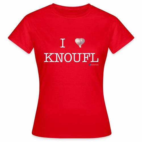 i love knoufl white - Frauen T-Shirt