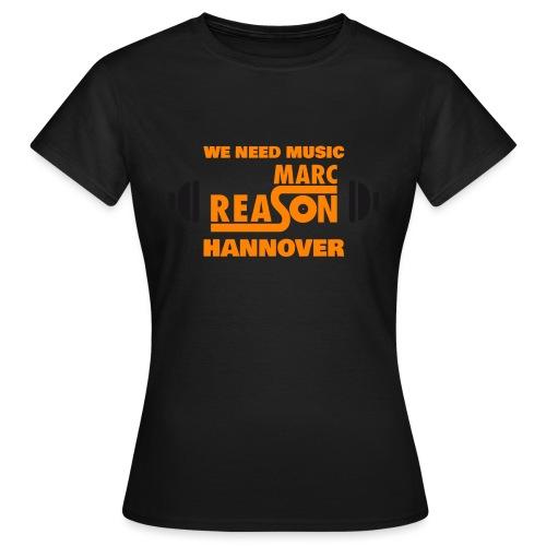 marc reason Logo 2020 1 orange - Frauen T-Shirt