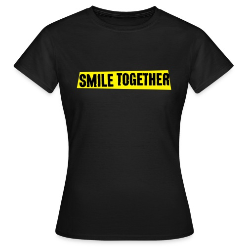Smile Together Black Yellow - Women's T-Shirt
