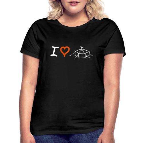 I love Jurte - Frauen T-Shirt