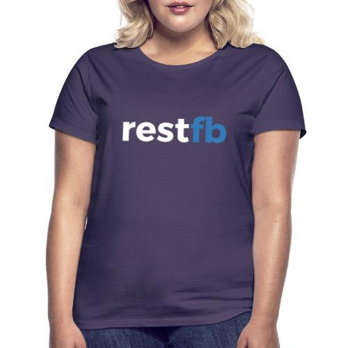 RestFB logo white - Women's T-Shirt