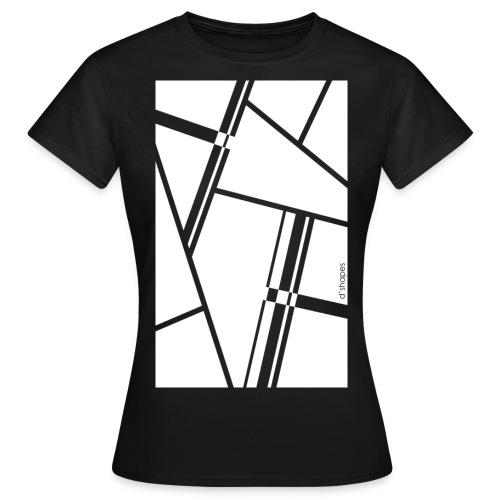 d shapes blocks white - Maglietta da donna