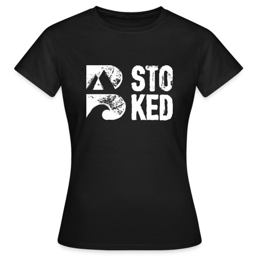 bstoked logo white - Women's T-Shirt
