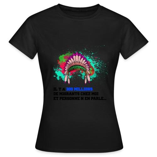 indien coiffe - T-shirt Femme
