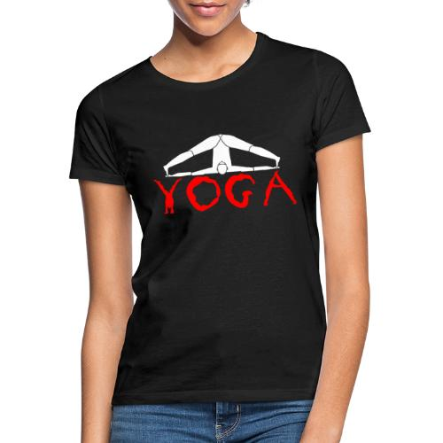 yoga yogi sport bianco namaste amore pace hippie - Maglietta da donna